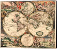Framed World Map 1689