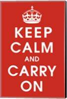 Framed Keep Calm (Red)