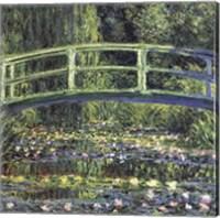 Framed Water Lily Pond, 1899 (blue)
