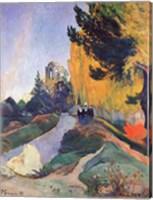 Framed Alyscamps, Arles, 1888