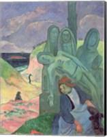 Framed Green Christ