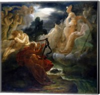 Framed On the Bank of the Lora, Ossian Conjures up a Spirit with the Sound of his Harp, c.1811