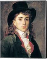 Framed Portrait of Baron Antoine Jean Gros