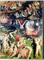 Framed Garden of Earthly Delights: Allegory of Luxury, detail of the central panel, c.1500