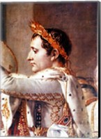 Framed Consecration of the Emperor Napoleon and the Coronation of the Empress Josephine, detail of Napoleon