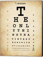 Framed Einstein Eye Chart