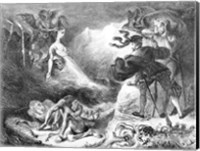 Framed Faust and Mephistopheles at the Witches' Sabbath, from Goethe's Faust, 1828
