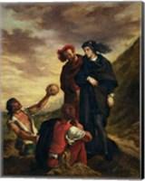 Framed Hamlet and Horatio in the Cemetery, from Scene 1, Act V of 'Hamlet'