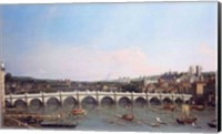 Framed Westminster Bridge from the North with Lambeth Palace in distance