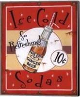 Framed Ice Cold Sodas