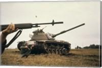 Framed M-14 Rifle M60 Tank