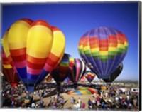 Framed Hot air balloons at the Albuquerque International Balloon Fiesta, Albuquerque, New Mexico, USA