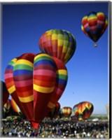 Framed Hot air balloons at the Albuquerque International Balloon Fiesta, Albuquerque, New Mexico, USA Vertical