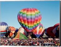Framed Hot air balloons at Albuquerque Balloon Fiesta, Albuquerque, New Mexico, USA