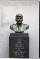 Framed JFK Bust by Evangelos Frudakis at Kennedy Plaza, Boardwalk, Atlantic City, New Jersey, USA