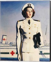 Framed Navy Nurse