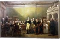 Framed General George Washington Resigning His Commission