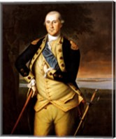 Framed George Washington by Peale 1776