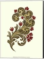 Framed Jacobean Leaf II