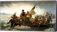 Framed Washington Crossing the Delaware by Emanuel Leutze, MMA-NYC, 1851