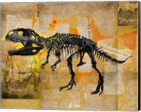 Framed T Rex Skeleton Collage
