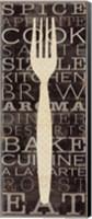 Framed Kitchen Words I
