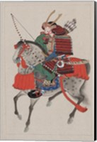Framed Samurai Riding a Horse