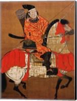 Framed Ashikaga Yoshihisa Samurai