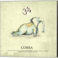 Framed Elephant Yoga, Cobra Pose