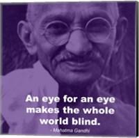Framed Gandhi - Eye For An Eye Quote