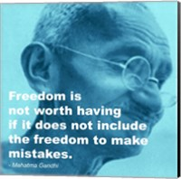 Framed Gandhi - Freedom Quote