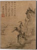 Framed Shubun - Reading in a Bamboo Grove detail
