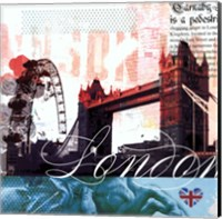 Framed London Stamps - Mini