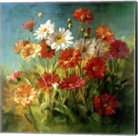 Framed Painted Daises