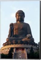 Framed Tian Tan Buddha, Po Lin Monastery, Hong Kong, China