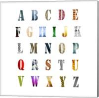 Framed Alphabet Poster