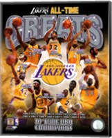 Framed Los Angeles Lakers All Time Greats Composite