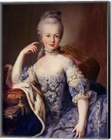 Framed Portrait of Marie Antoinette