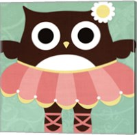 Framed Ballerina Owl