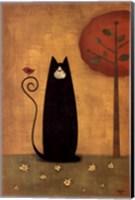 Framed Cat Tails I