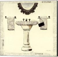 Framed Emily's Boudoir II Sink