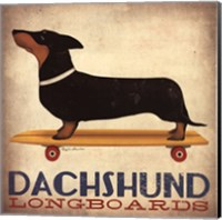 Framed Dachsund Longboards