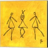 Framed Joy - Yellow Dancers