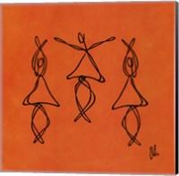 Framed Hope - Orange Dancers