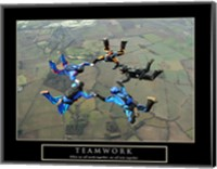 Framed Teamwork-Skydivers II
