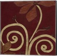 Framed Cardamon Floral III