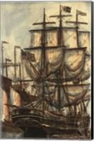 Framed Printed Majestic Ship I