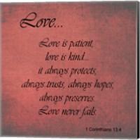 Framed Love 1 Corinthians 13:4