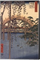 Framed Precincts of the Tenjin Shrine at Kameido, 1856