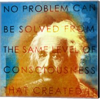 Framed Einstein – No Problem Quote